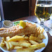 Fish'n'chips and cider in The Basketmaker's