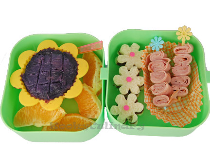 Kids Bento #105 - Flowery Day