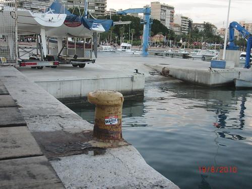Summer: Alacant's port