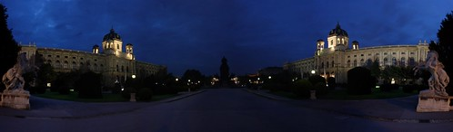 Museums by night (panoramic)