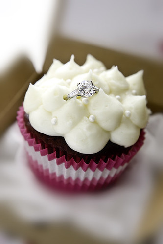 Engagement Ring Cupcakes