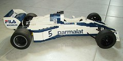 LEGO Brabham BT52 final 020 (RoscoPC) Tags: world car 1 championship with steering 4 working engine nelson f1 m motors most turbo formula 1983 formula1 powerful won rc xl pf brabham piquet cyl suspensions bt52