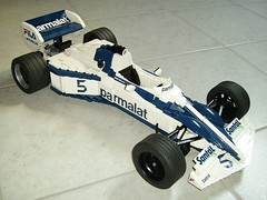 LEGO Brabham BT52 final 021 (RoscoPC) Tags: world car 1 championship with steering 4 working engine nelson f1 m motors most turbo formula 1983 formula1 powerful won rc xl pf brabham piquet cyl suspensions bt52