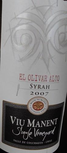 Viu Manent Syrah El Olivar