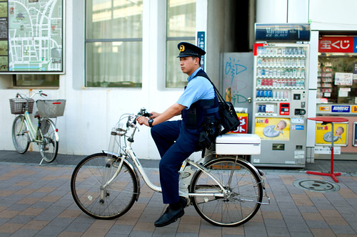 Cop on Bicycle