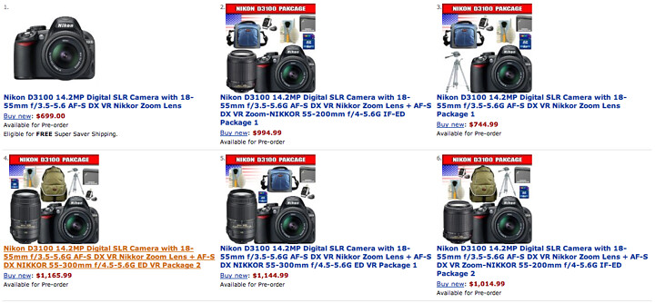 Nikon D3100 prices, availability and in-stock information