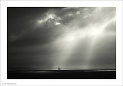 Light on the River Dee (Ian Bramham) Tags: light bw river landscape photography photo nikon ship fineart beams 70300vr d700 ianbramham welcomeuk