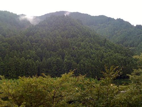 神山の山々