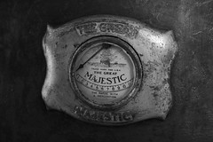 majestic stove (blossomdawes) Tags: old bw antique dial stove majestic range cassscenicrailway thegreatmajestic