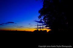 Reisterstown Sunset (Justin.Taylor) Tags: sunset maryland powerlines bluehour reisterstown photomatix sigma287028 5exp d700 tonecompressor stocksdaleavenue