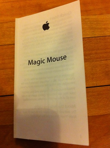 Magic Mouse manual cover
