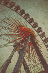 Vintage Big Wheel @ Oktoberfest (josche) Tags: autumn summer texture wheel vintage munich mnchen fun bavaria big fair ferris oktoberfest retro funfair riesenrad