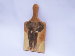 "Cutting board with elephant ""Africa"""