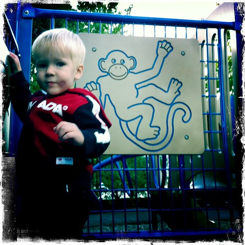 Jacob on the playground