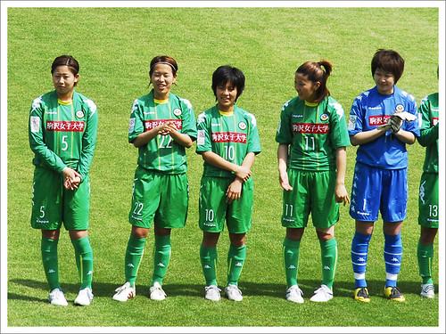 岩渕真奈・試合前の整列@日テレ・ベレーザ VS INAC神戸_201005