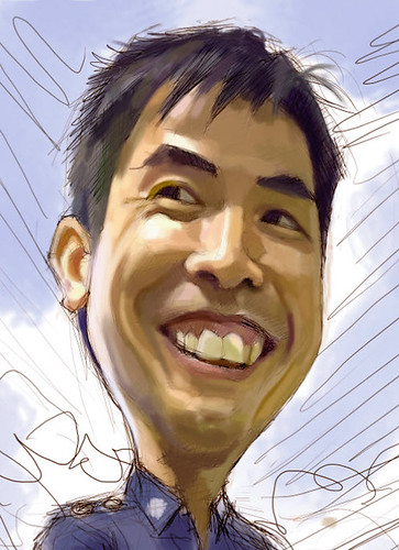 Digital caricature for Singapore Police Force - 1