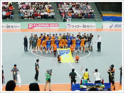 試合前@シュライカー大阪 VS 名古屋オーシャンズ_201009