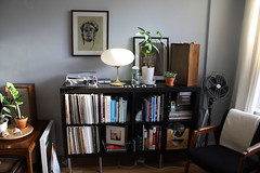 record console (GoodAfternoonan) Tags: plants mushroom lamp chair apartment player record therapy laurel midcentury expedit apartmenttherapy apartmenttherapyny