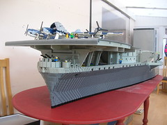 USS Intrepid Bow sections 2 (Lego Monster) Tags: ship lego wip aircraftcarrier 1945 usnavy carrier worldwar2 ussintrepid essexclass