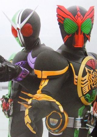 Kamen Rider OOO with Kamen Rider W