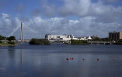 pgmc545 (the underlord) Tags: bridge lake reflection marina cosina bessa sunday rangefinder 200asa fujifilm southport buoy merseyside fujicolor jupiter8 superia200 colorskopar254 r4a voigtlanderbessar4a