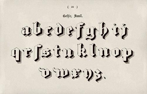 011-Alfabeto minusculas gotico-Examples of Modern Alphabets… 1913- Freeman Delamotte