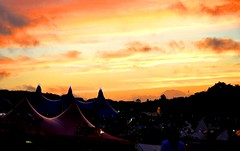 Bestival Sunset (Tangentical) Tags: sunset beautiful isleofwight musicfestival robinhillpark bestival2010