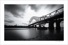 Runcorn Bridge (Mike. Spriggs) Tags: longexposure bridge river mersey runcorn widnes