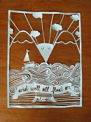 float on (stealinghearts) Tags: art elle craft cutouts papercut blades scherenschnitte