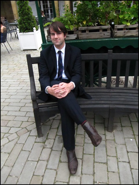 dave on a bench