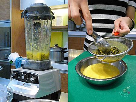 低速分離百香果汁和籽