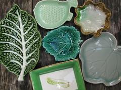 green ceramics (miss Tempel) Tags: green leave groen blad collection glaze glazuur