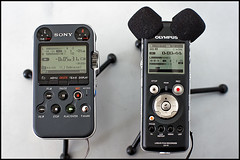 Sony PCM-M10 and Olympus LS-10