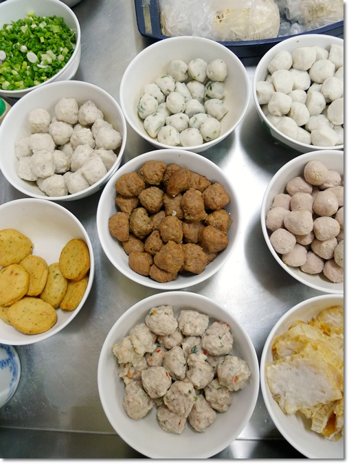 Variety of Yong Liew (Stuffed Fish Paste)