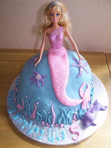Mermaid Barbie Cake