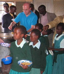 <B>Rep. Jim McGovern serves school lunch in Kajiado, Kenya</B>