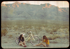 (Gaby J Photography) Tags: mountains bike bicycle self vintage polaroid desert lasvegas nevada grain frame saycheese takingapicture beachcruiser louisekatedador adventurezz gabyjeter