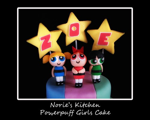 Norie's Kitchen - Powerpuff Girls Theme Cake
