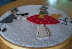 The tea leaf reading (metro-station) Tags: halloween mushroom woodland tea embroidery bat witches tasseography tealeafreading