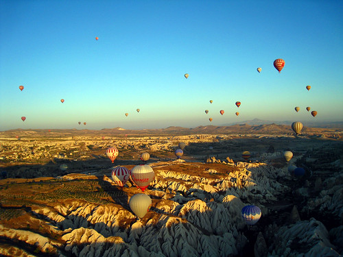 Hot air balloons over Goreme