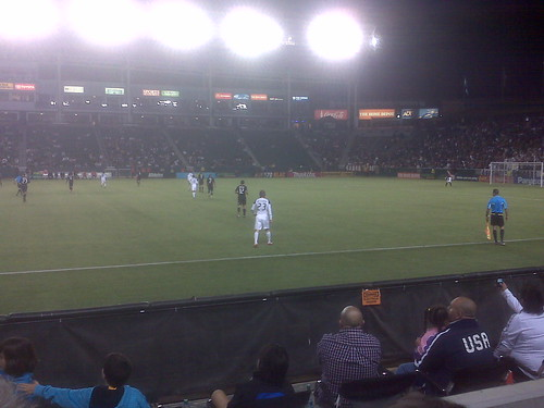 Beckham entering the game was the third most exciting thing, right after Landon Donovan's two goals