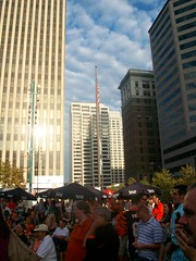 Crowd and flagpole (Coasterville) Tags: oktoberfest zinzinnati