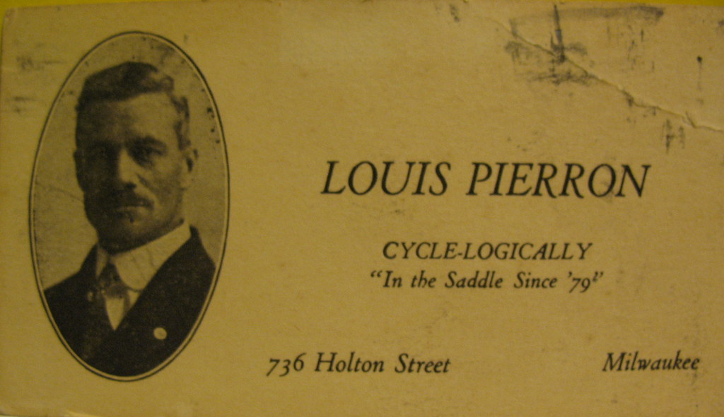 Louis Pierron, Cyclist of Milwaukee
