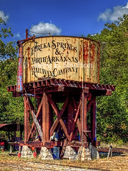 Eureka Springs Water Tower (Uncle Phooey) Tags: railroad tower museum train tank watertower rails arkansas spout ozarks steamengine spigot eurekasprings fillingstation petticoatjunction eurekaspringsnortharkasasrailwaycompany