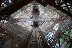 Descendiendo de la Torre Eiffel