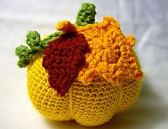 2010-09-20-ItsyBitsySpider-PumpkinCAL-No2-g (Anita Elmore) Tags: autumn orange fall pumpkin toy stuffed crochet plush cal plushie amigurumi stuffie crochetalong