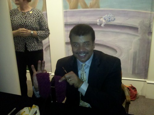 Neil deGrasse Tyson and my strawberry mojito socks