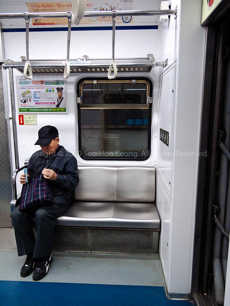 In the Seoul Subway, Korea