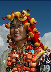 4803370477568516932 (BetterWorld2010) Tags: tibetans coral festival gold amber necklace beads costume treasure dress jewelry tibet ring celebration bracelet amdo kham sichuan traditionalcostume 2009 litang headdress robes yushu  tibetanwoman    khampa golok lithang tibetangirl tribalcostume tibetanfestival  tibetanwomen