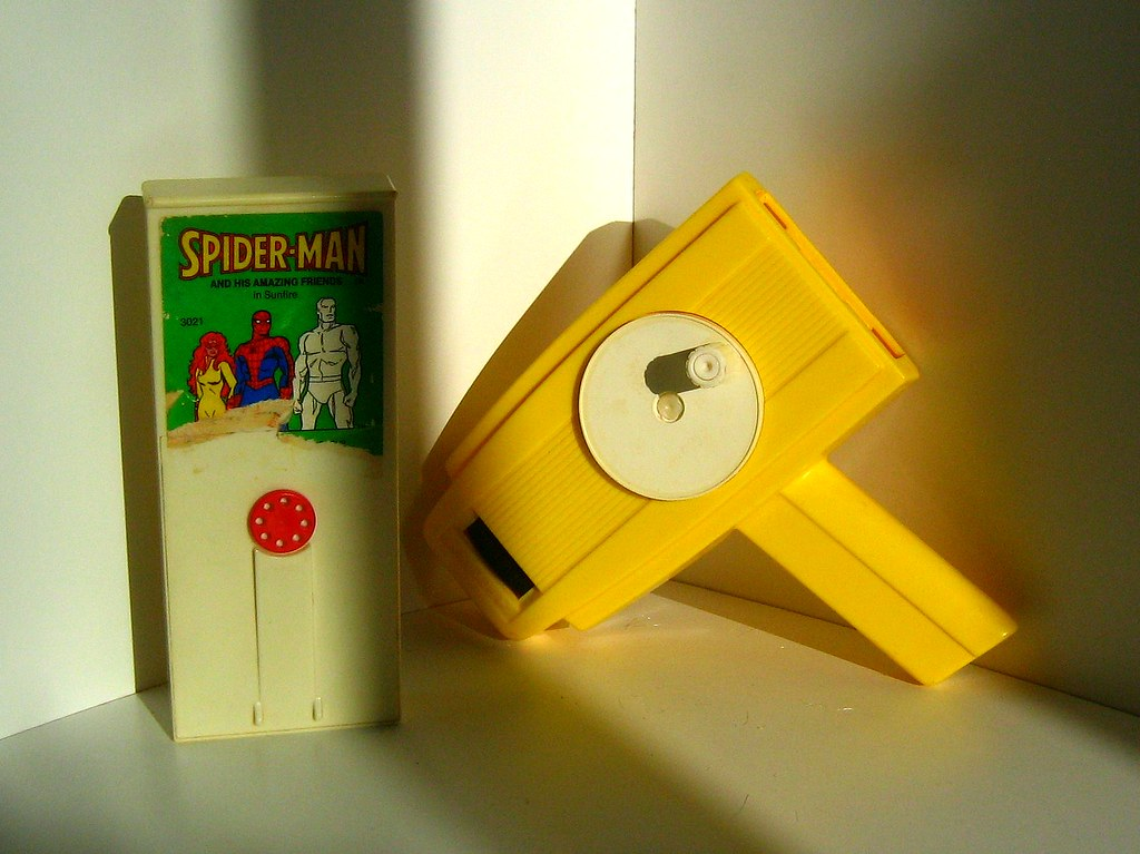 Fisher-Price Toys: Movie Viewer and Spider-Man Cartridge - 1 of 2